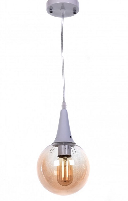 lampada vintage vetro ambrato