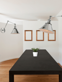 lampade a parete con braccio orientabile e regolabile colore cromato