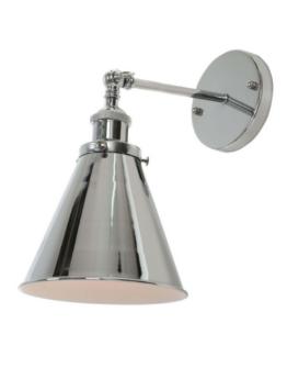lampada a parete metallo alluminio design moderno