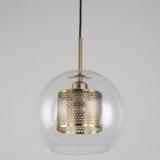 lampade sfera ottone vetro a sospensione