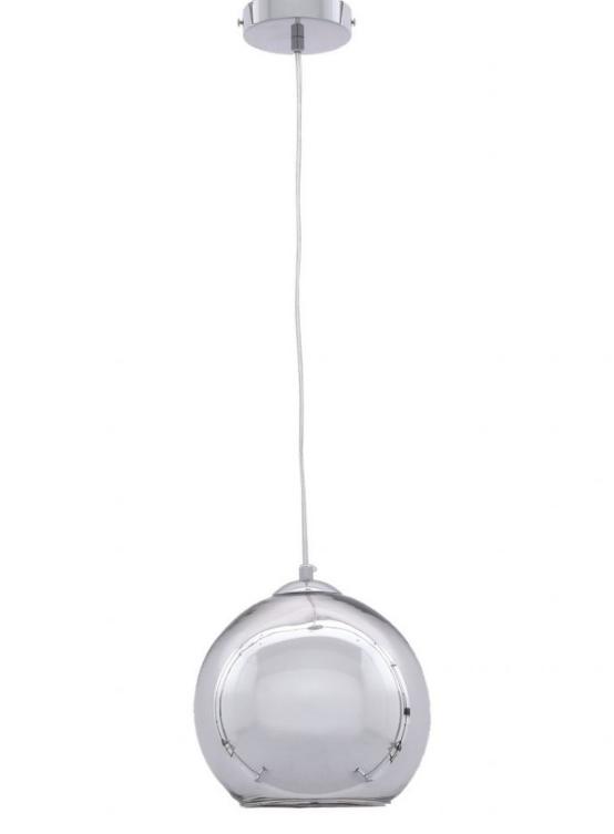 lampada soffitto sfera pendente cromata