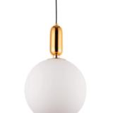 lampada a sfera vetro soffiato bianco