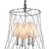 lampada cromata moderna 4 luci