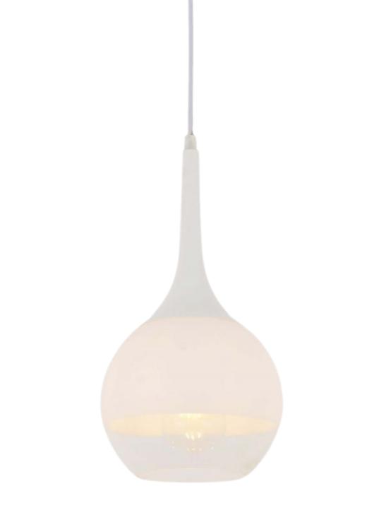 lampada soffitto moderna paralume in vetro colore bianca
