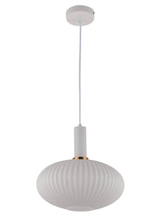 lampada a soffitto paralume in vetro bianco