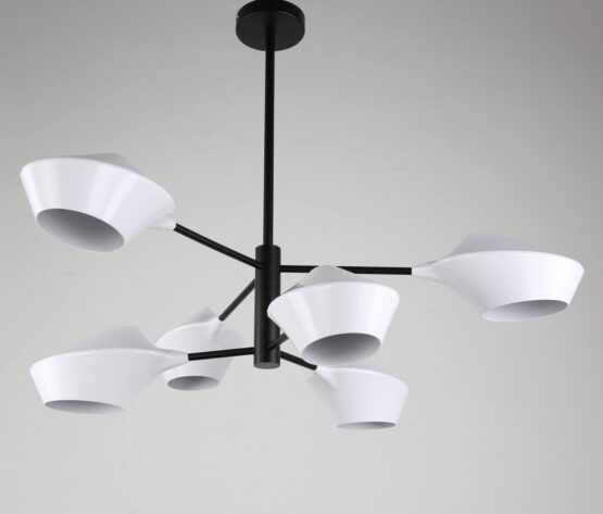 lampada vintage soffitto paralumi bianchi