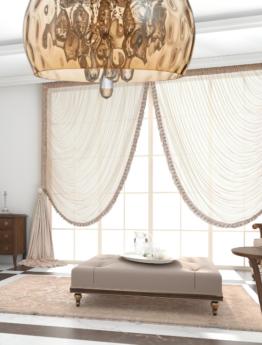 Lampada salone vetro e cristalli color ambra molto grande