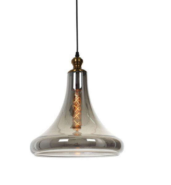 Lampade vintage forma di campana vetro ottone