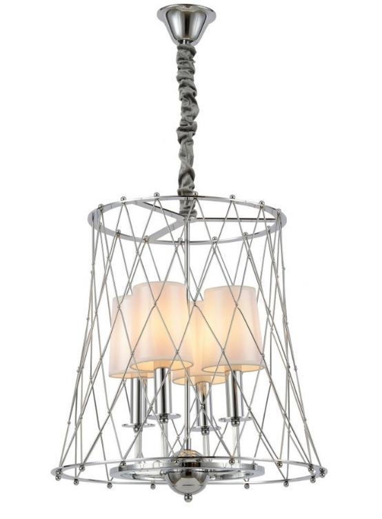 lampadario a soffitto cromato moderno 4 luci