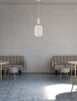 lampade a sospensione moderne bianche per locali e ristoranti