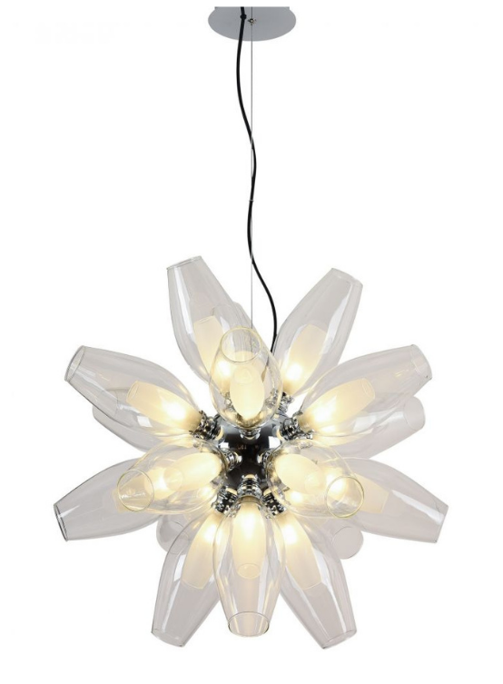 lampada a sospensione forma fiore moderna