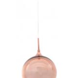 lampada a sospensione color oro rosa in vetro