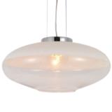 lampade sospensione paralume bianco ovale