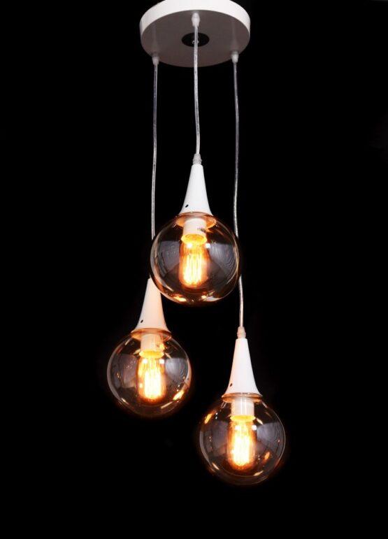 Lampada bianca vintage 3 luci