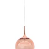 lampada a sospensione sfera oro rosa