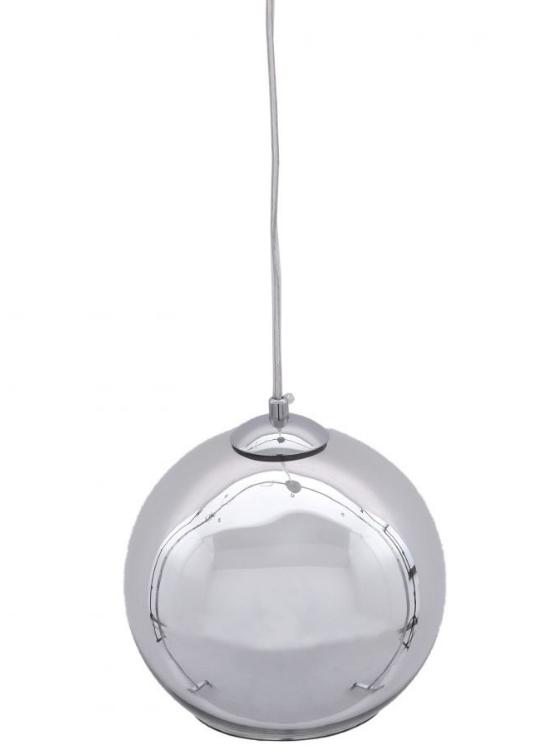 lampadario sospensione sfera vetro cromato