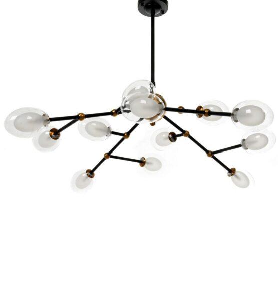 lampadario sputnik ottone nero