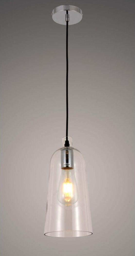 lampada a sospensione con paralume di vetro nordica