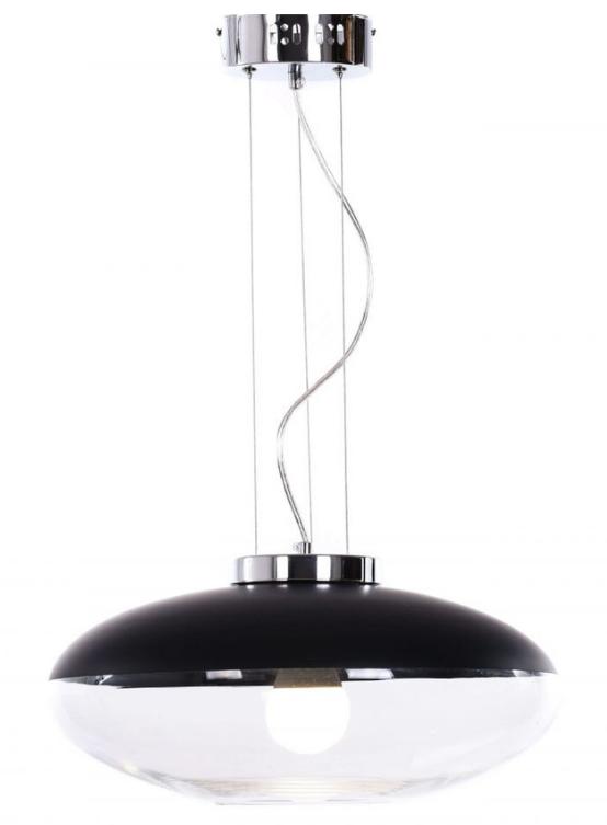 lampada sospensione vetro nero e trasparente