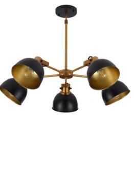 lampada sospensione vintage paralume regolabile