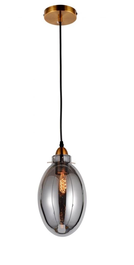 lampada vintage da soffitto vetro e ottone