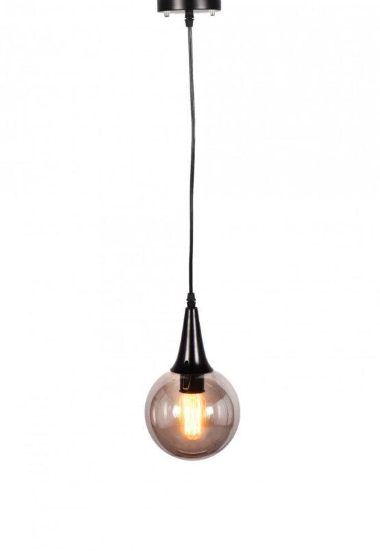 Lampada stile industriale con attacco soffitto nero