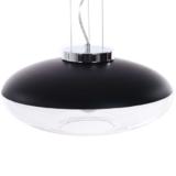 lampada vetro a sospensione paralume nero grande