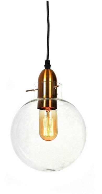 Lampada vintage industriale a forma di palla