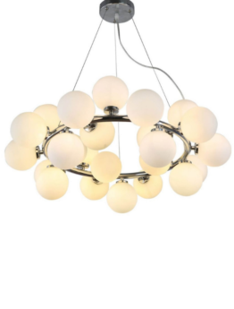 lampadari moderni sfera vetro bianco vetro