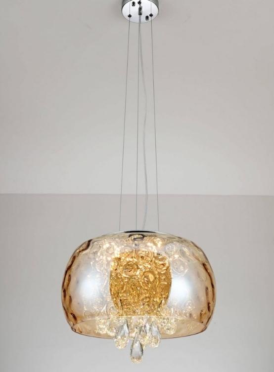 lampadario a sospensione cristallo