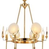 lampadario oro per camera da letto