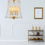 lampadario dorato moderno