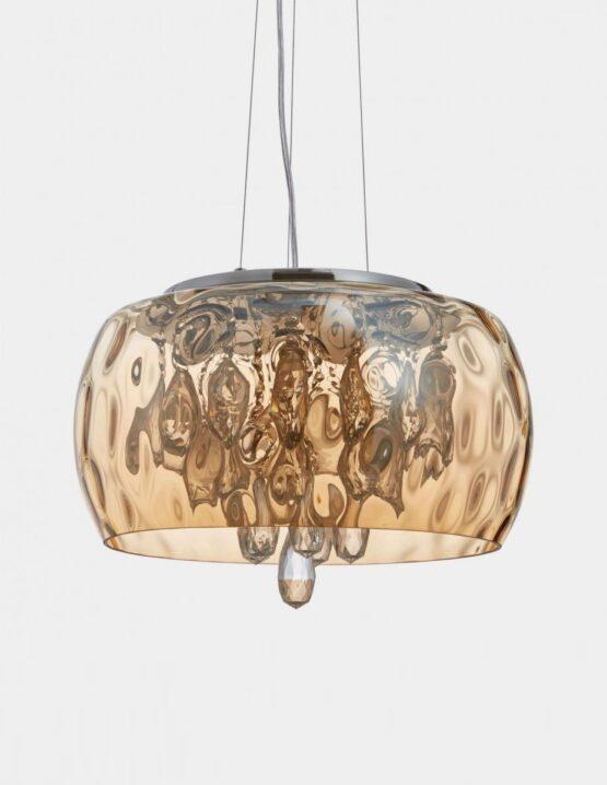 Lampade da soffitto cristalli color ambra