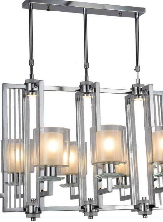 lampadario moderno cromato