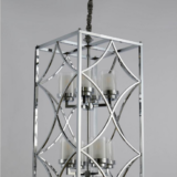 lampadario soffitto cromato 8 luci con cavo regolabile di colore nero