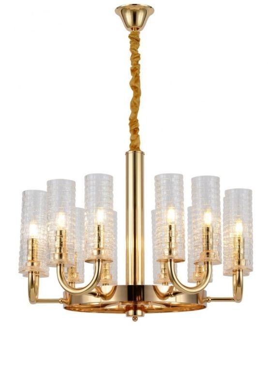 Lampadario oro e cristallo 12 luci