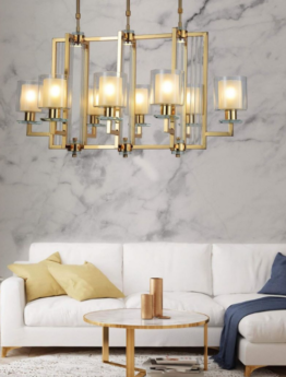 lampadario oro moderno 8 luci