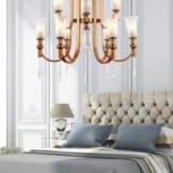 lampadario ottone camera da letto