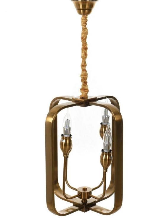 Lampadario ottone moderno 4 luci