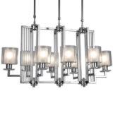 lampadario soffitto cromato moderno