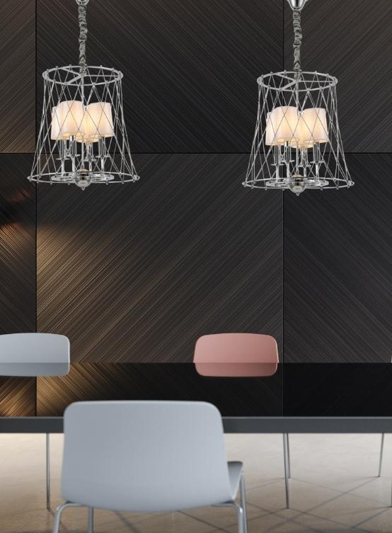 lampadario sospensione cromato tavolo da pranzo