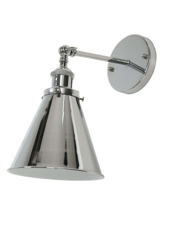 lampade a muro in metallo cromato moderne