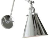 lampade a muro metallo lucido stile moderno