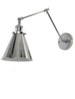 lampade a parete in metallo lucido design moderno