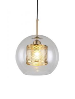 lampadario sfera vetro trasparente