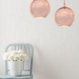 lampade a sfera vetro oro rosa
