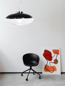 lampade soffitto nere paralume vetro