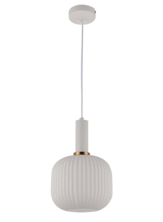 lampada sospensione bianca paralume vetro