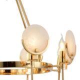 lampadario oro design 6 luci
