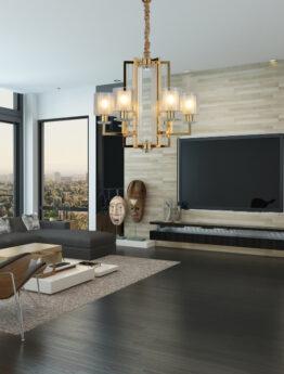 salotto moderno lampadari